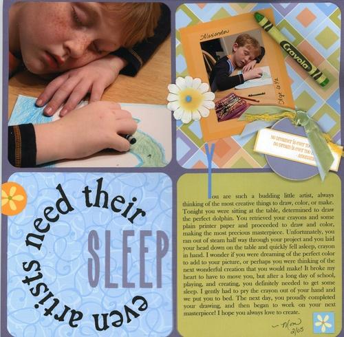 Even Artists Need Their Sleep